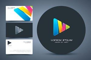 Letter M multimedia logo.