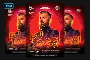 Techno DJ Flyer Template