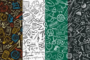 High School Scribble Vector Pattern