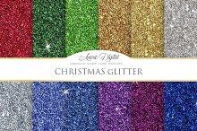 Christmas Glitter Digital Paper