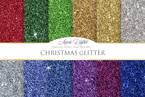 Christmas Glitter Digital Paper