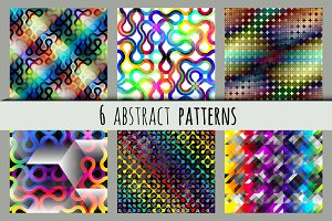 6 abstract patterns.