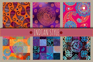Set of patterns in indian style