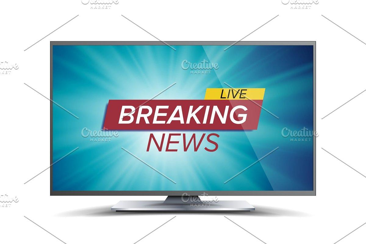 Breaking News Vector  Blue TV Screen