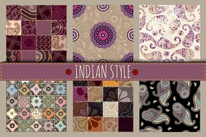 Set of patterns in indian style.