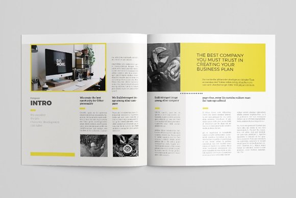 Simple Brochure Template in Brochure Templates - product preview 1