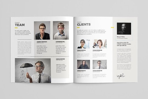 Simple Brochure Template in Brochure Templates - product preview 2