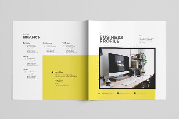 Simple Brochure Template in Brochure Templates - product preview 3
