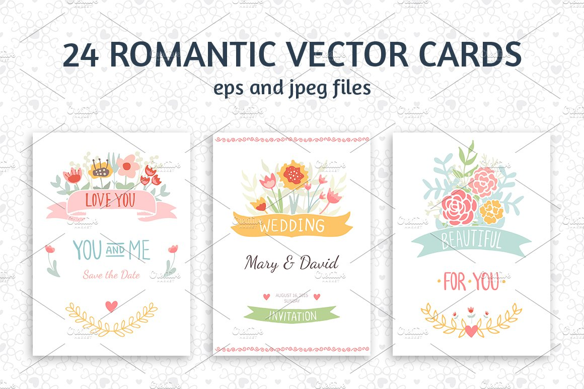 24 romantic wedding cards template card templates creative market stopboris Choice Image