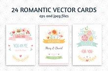 24 Romantic & Wedding Cards Template