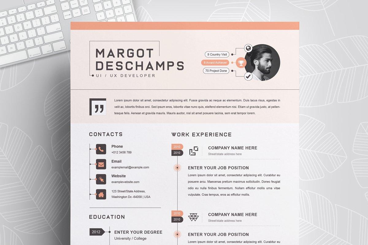 Infographic Resume / CV Template ~ Resume Templates ...