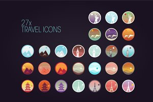 27 Travel icons: big set