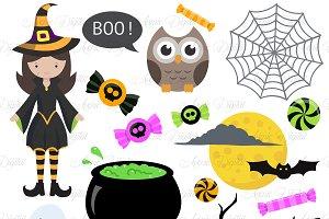 Halloween Clipart bundle 82 elements ~ Illustrations ~ Creative Market
