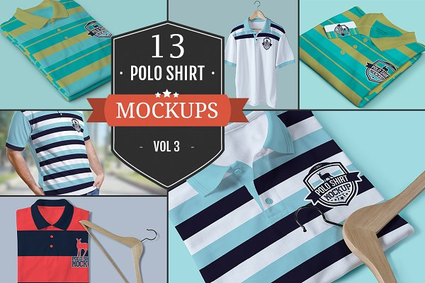 Polo T-Shirt PSD Mockups Vol.3