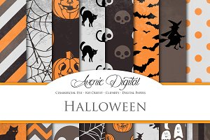 Spooky Halloween Digital Papers