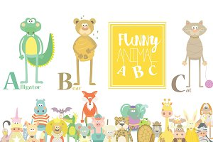 Animal ABC Cute Set