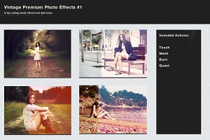 Vintage Premium Photo Effects #1