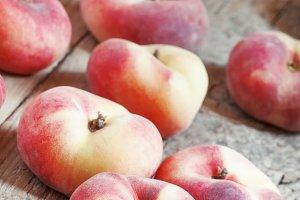 Flat pink peach