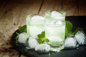 Green cold drink