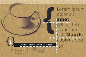Stylish coffee flyer or poster