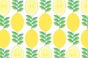 lemon background vector