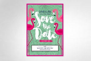 tropical save the date template