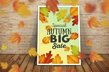 Set autumn sales business banners