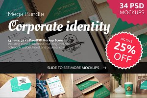 32+2 Free Corporate Identity Mockups