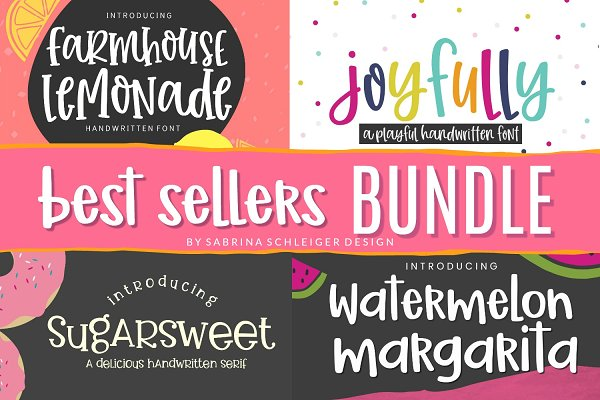 Handwritten Font Best Sellers Bundle