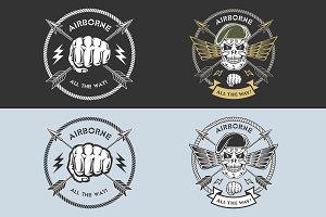 military emblem airborn