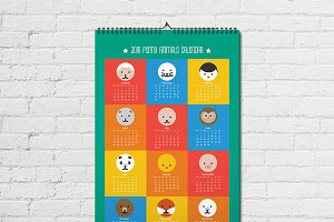 2016 vector calendar EPS+JPG +BONUS!
