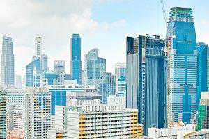 Singapore skyline view