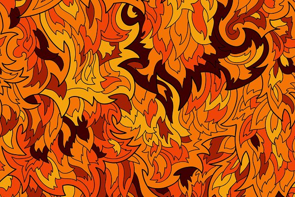 Seamless fur or flame pattern