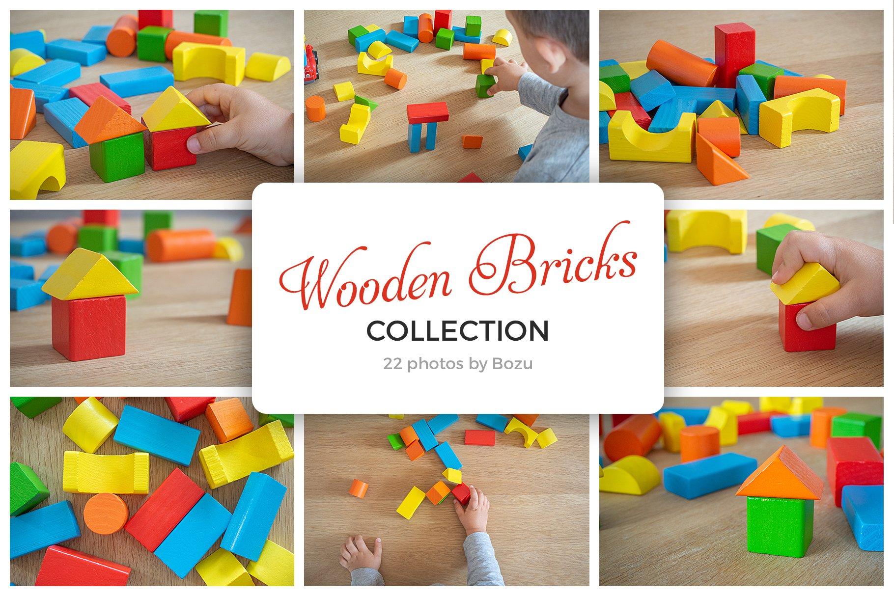 Wooden Bricks Collection ~ Arts & Entertainment Photos ~ Creative Market