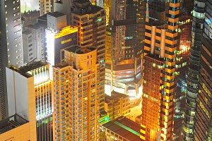 Top view of Hong Kong city center