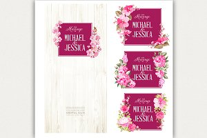 Set of marriage invitations.