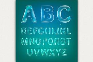 Font alphabet.