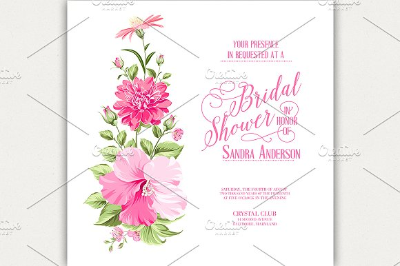 Flower Garland For Invitation Card Invitation Templates