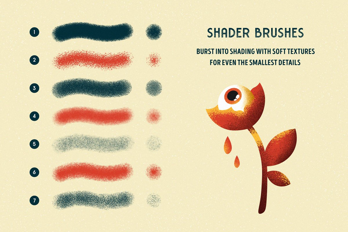 Shader Brushes for Illustrator ~ Illustrator Add-Ons ~ Creative Market