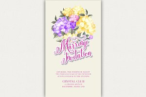 Invitation card template.