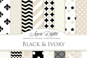 Black and Ivory Patterns