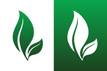 Leaf Pair Icon Vector Illustrations