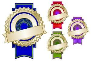 Set of Colorful Emblem Seals