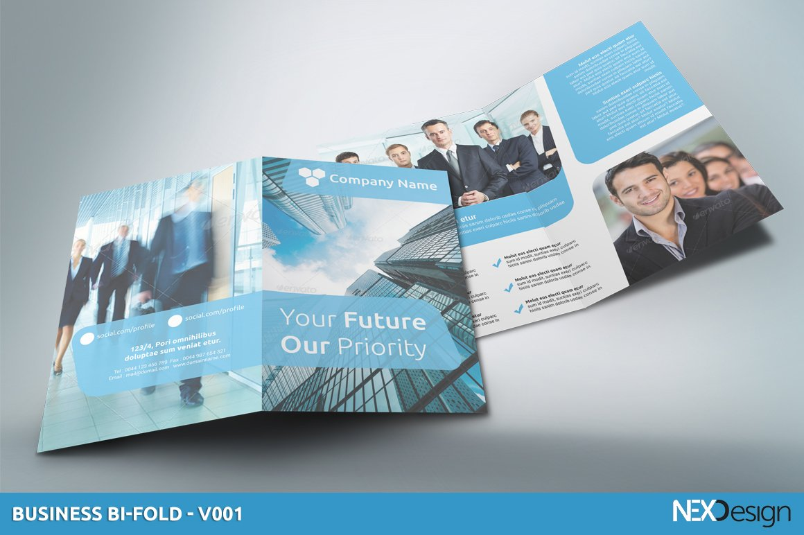 Business Bi Fold Sk 001 Brochure Templates Creative Market