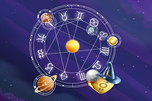 Zodiac signs background