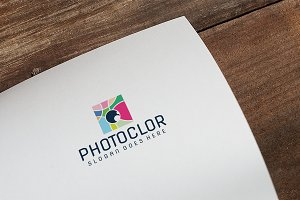 Colorful Camera Photography Logo