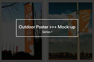 【Outdoor Poster etc. Mock-up 】