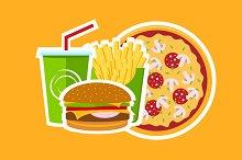 Pizza Cafe Logo Composition