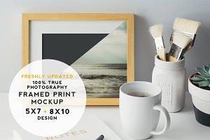 Artist Series Framed Print Mockup #3