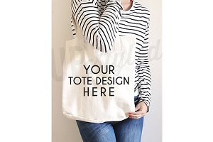 A170 Canvas Tote Bag Mock Up
